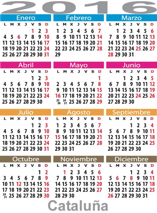 Calendario Laboral De Cataluna.Calendario Laboral Cataluna Catalunya